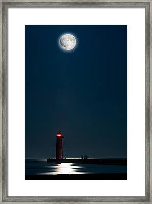 Framed Print featuring the photograph Before The Harvest Eclipse by Steven Santamour