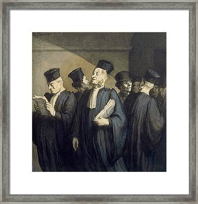 Before The Hearing Framed Print