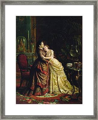 Before The Marriage Framed Print by Sergei Ivanovich Gribkov