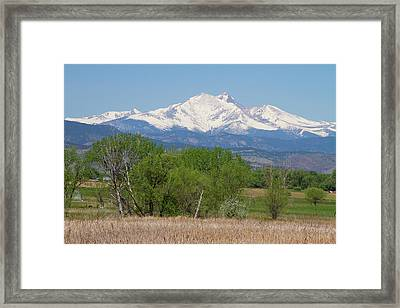 Before The Melt Off  Of The Rocky Mountains Framed Print