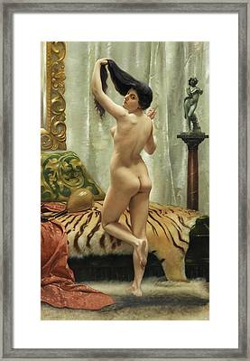 Before The Mirror Framed Print by Robert Barrett Browning