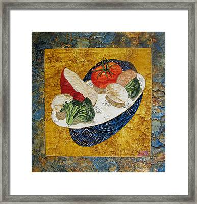 Before The Omelet Framed Print by Lynda K Boardman
