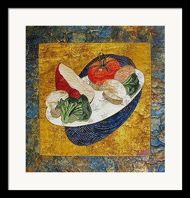 Food And Beverages Tapestries - Textiles Framed Prints