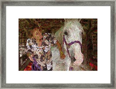 Before The Race Framed Print by Florene Welebny
