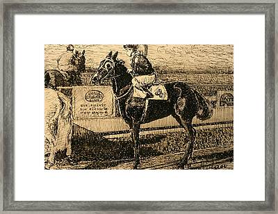 Before The Race Framed Print