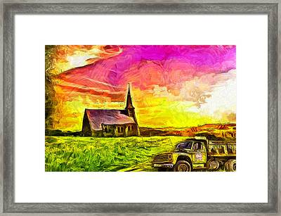 Before The Resurrection Framed Print by Anthony Caruso