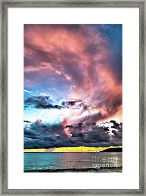 Before The Storm Avila Bay Framed Print