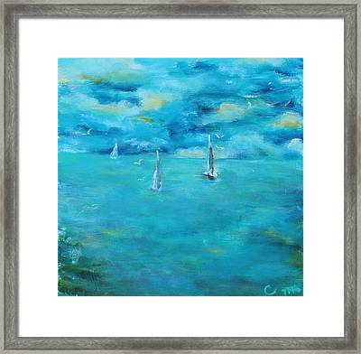 Before The Storm Framed Print by Chaline Ouellet