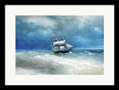 Tall Ships Mixed Media Framed Prints
