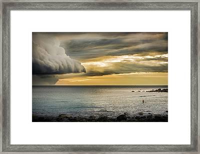 Before The Storm Framed Print by Jonas Forsberg
