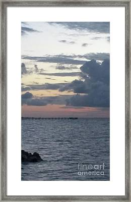 Before The Storm Framed Print by Karen Hamby