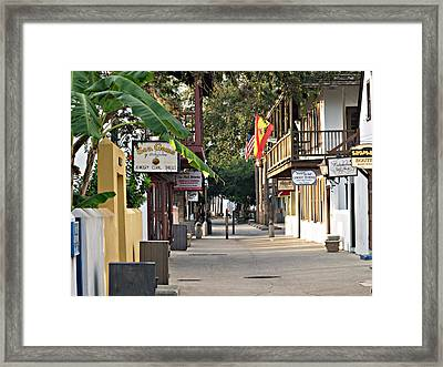 Before The Tourists 1 Framed Print