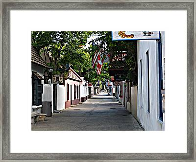Before The Tourists 2 Framed Print