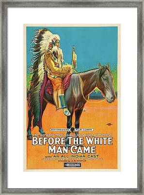 Before The White Man Came 1918 Framed Print by Mountain Dreams