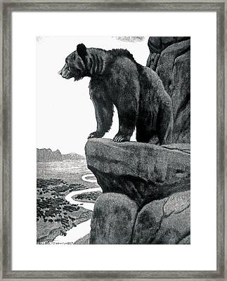 Before The White Man Came Framed Print