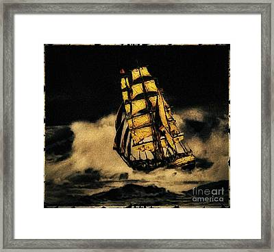 Before The Wind Framed Print