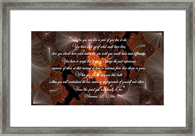 Before You Can Live Framed Print by Lea Wiggins