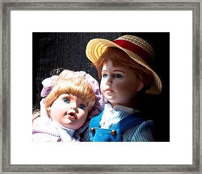 Befriend...blue Eyes Framed Print