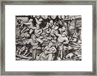 Beggar Being Thrown Out Of A Rich Man S Framed Print by Vintage Design Pics