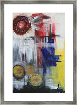 Framed Print featuring the painting Begging by Sladjana Lazarevic