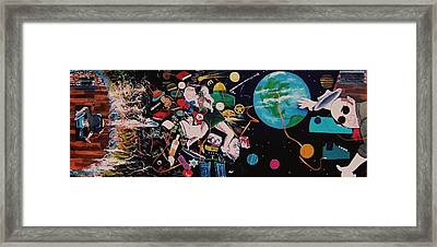 beginendbegin the suicide of Hunter Thompson AND THERE AFTER Framed Print by Richard  Hubal