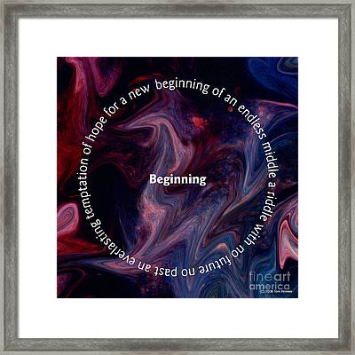 Framed Print featuring the digital art Begining by Tom Romeo