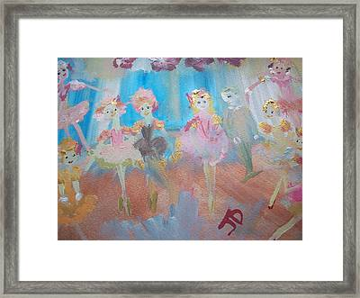 Beginners On Stage Framed Print