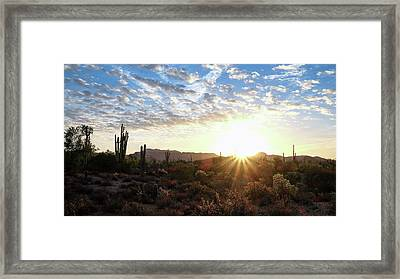 Beginning A New Day Framed Print by Monte Stevens