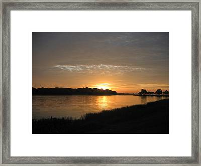 Framed Print featuring the photograph Beginning Light by Frederic Kohli
