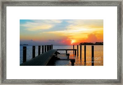 Beginning Of A Beautiful Day Framed Print