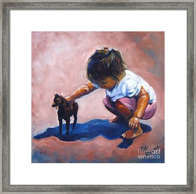 Framed Print featuring the painting Beginning Of A Love Affair by Pat Burns