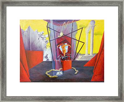 Framed Print featuring the painting Beginning To End by Elly Potamianos