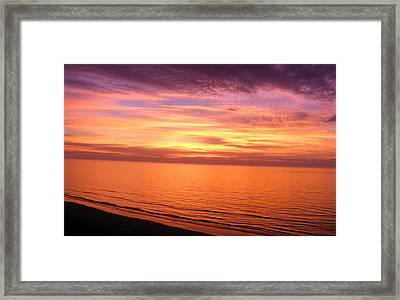 Beginning...new Years Day Sunrise At The Beach Framed Print by Elena Tudor