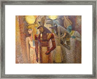Beginnings. Gods Of Ancient Egypt Framed Print