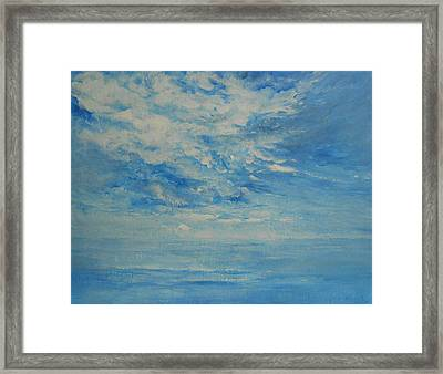 Behind All Clouds Framed Print