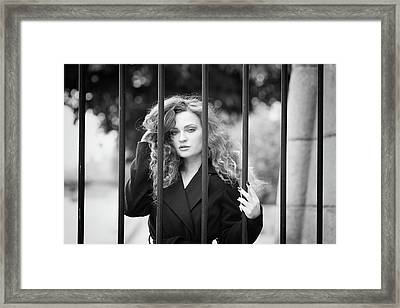 Behind Bars, Paris Framed Print