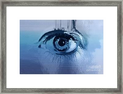 Behind Blue Eyes Framed Print by Steffi Louis