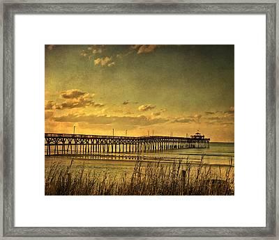 Behind Cherry Grove Pier  Framed Print by Trish Tritz