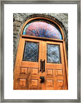 Behind Closed Doors Framed Print by JC Findley
