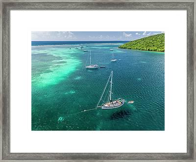 Behind Dakity Reef Framed Print