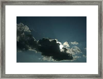 Behind Every Dark Cloud Framed Print by Gregory Jeffries