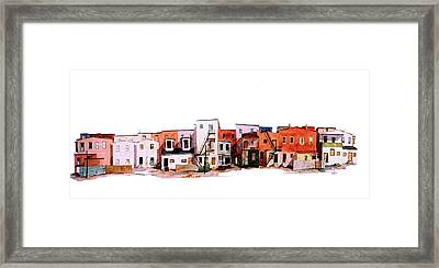 Behind Fourth Street Framed Print