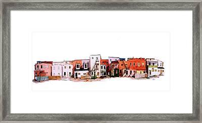 Behind Fourth Street Framed Print by William Renzulli