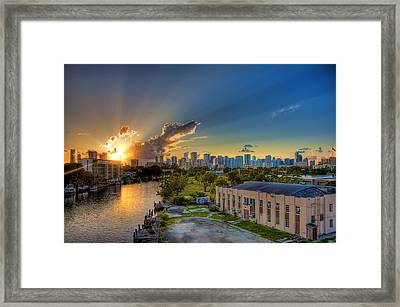 Behind Miami Framed Print