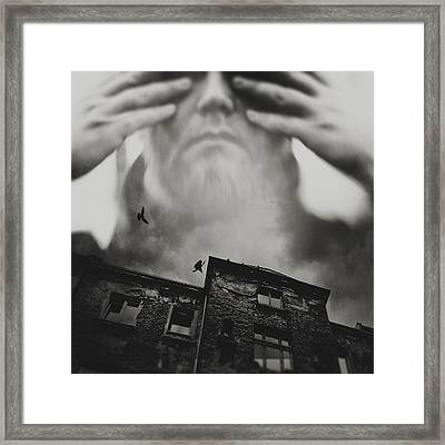 Behind My Eyes Framed Print by Art of Invi