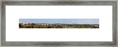 Behind Pats Hill Framed Print