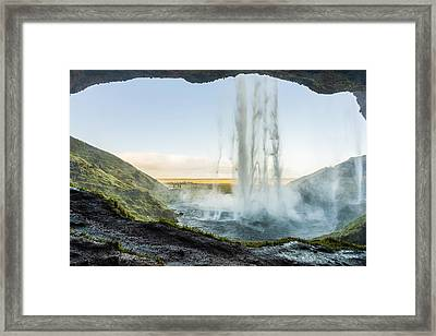 Behind Seljalandsfoss Framed Print