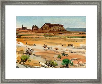 Behind Shiprock Framed Print by Donald Maier