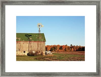 Behind The Barn Framed Print by Todd Klassy