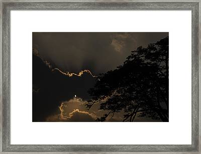Behind The Cloud Framed Print